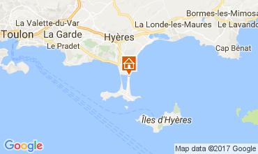 Kaart Hyères Appartement 111063