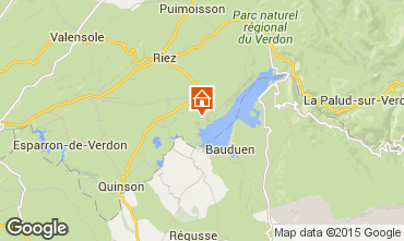 Kaart Sainte-Croix-du-Verdon Vakantiehuis 86894