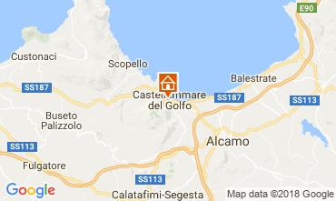 Kaart Castellammare del Golfo Appartement 113998