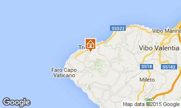 Kaart Tropea Appartement 76371