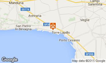 Kaart Porto Cesareo Appartement 61664