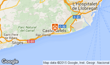 Kaart Casteldefels Appartement 59696