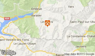 Kaart Les Orres Appartement 16050