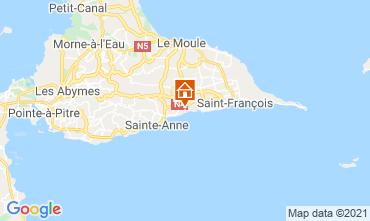Kaart Sainte Anne(Guadeloupe) Vakantiehuis 15292