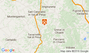 Kaart San Casciano in Val di Pesa Appartement 104717