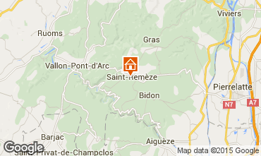Kaart Vallon-Pont-D'Arc Stacaravan 23563