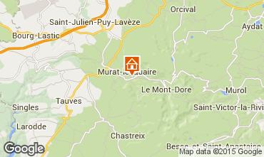 Kaart La Bourboule Vakantiehuis 57606