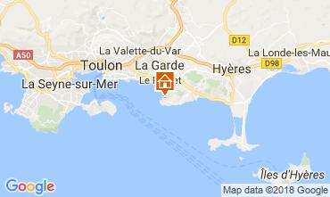 Kaart Le Pradet Villa 115101