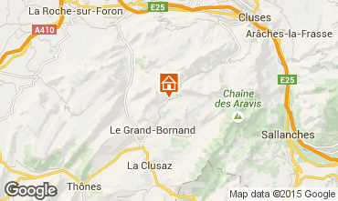 Kaart Le Grand Bornand Appartement 1370