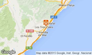 Kaart La Ametlla de Mar Villa 60101