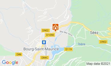 Kaart Les Arcs Studio 129