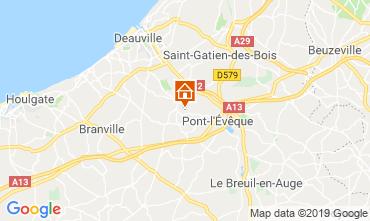Kaart Deauville Bed & breakfast 118008