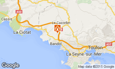 Kaart La Cadière d'Azur Villa 94916