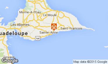 Kaart Sainte Anne(Guadeloupe) Vakantiehuis 27568
