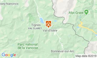 Kaart Val d'Isère Appartement 3354