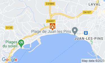 Kaart Juan les Pins Appartement 76269