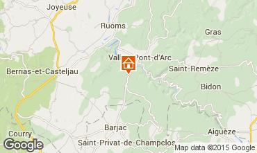 Kaart Vallon-Pont-D'Arc Villa 23758