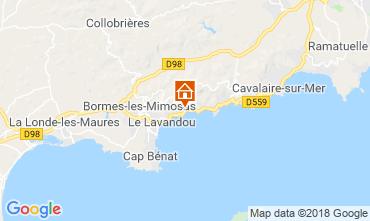 Kaart Le Lavandou Appartement 116591