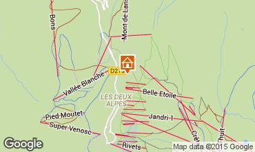 Kaart Les 2 Alpes Chalet 91812