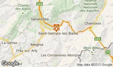 Kaart Saint Gervais Mont-Blanc Appartement 2553