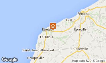 Kaart Etretat Vakantiehuis 60555