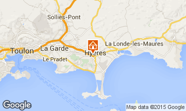 Kaart Hyères Appartement 5805