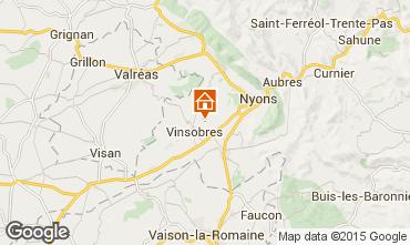 Kaart Nyons Bungalow 58224