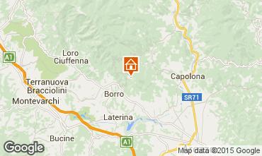 Kaart Arezzo Vakantiehuis 57056