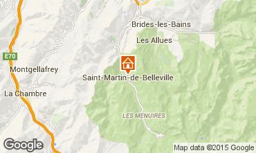 Kaart Saint Martin de Belleville Chalet 2650