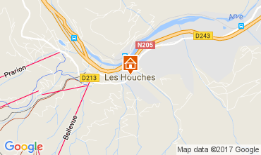 Kaart Chamonix Mont-Blanc Appartement 68975