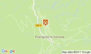 Kaart Pralognan la Vanoise Appartement 52387