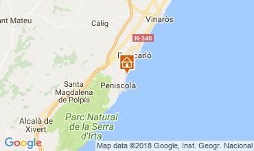 Kaart Peñíscola Appartement 32523