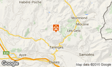 Kaart Praz de Lys Sommand Chalet 101067