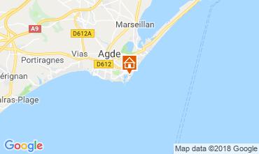 Kaart Cap d'Agde Appartement 55415