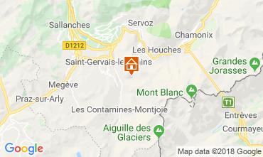 Kaart Saint-Gervais-les-Bains Vakantiehuis 117570