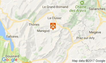 Kaart Manigod-Croix Fry/L'étale-Merdassier Appartement 82225