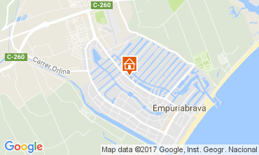 Kaart Empuriabrava Appartement 111912