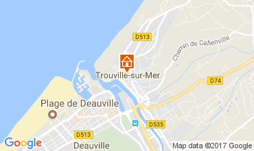 Kaart Trouville sur Mer Appartement 112240