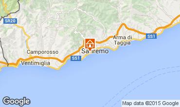 Kaart Sanremo Appartement 100261