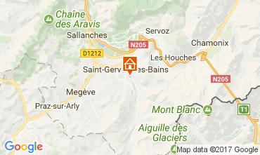 Kaart Saint-Gervais-les-Bains Chalet 2562