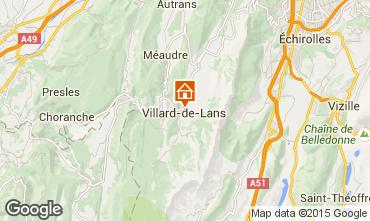 Kaart Villard de Lans - Corrençon en Vercors Appartement 32977