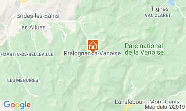 Kaart Pralognan la Vanoise Appartement 2280