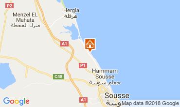 Kaart Port El Kantaoui Appartement 11240