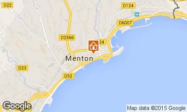Kaart Menton Appartement 91987