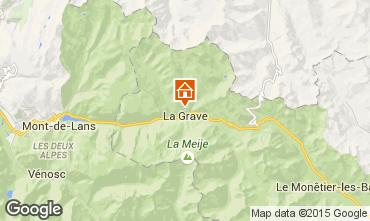 Kaart La Grave - La Meije Appartement 74724