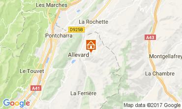 Kaart Le Collet d'Allevard Appartement 112005