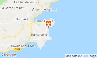 Kaart Saint Tropez Stacaravan 118661