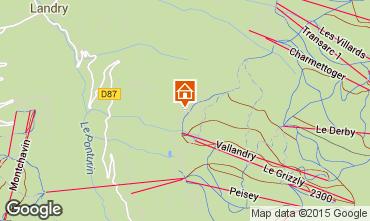 Kaart Peisey-Vallandry Chalet 74279