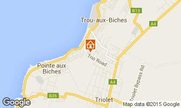 Kaart Trou-aux-biches Appartement 83923
