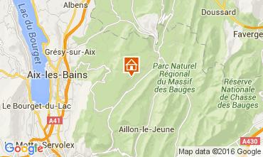Kaart Les Aillons Studio 91336